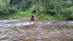 Rock Climbing Photo: High creek in early July!
