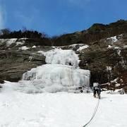 Rock Climbing Photo: Cinema Gully, WI 2+ 600', Mt Willard, NH