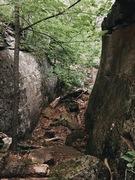 Rock Climbing Photo: Slab wall pit immediately to the left upon walking...