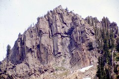 Rock Climbing Photo: We climbed the right side of the buttress on the r...