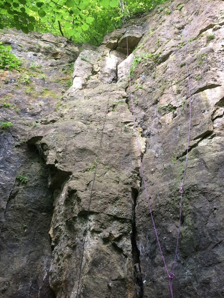 Rock Climbing in New Vice Area, Barn Bluff (Red Wing)