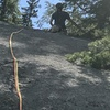 Tom (16 yrs old) on lead up the Top Out pitch