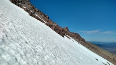 Rock Climbing Photo: In the midst of South face descent from summit rid...