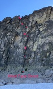 Rock Climbing Photo: West Face Direct route