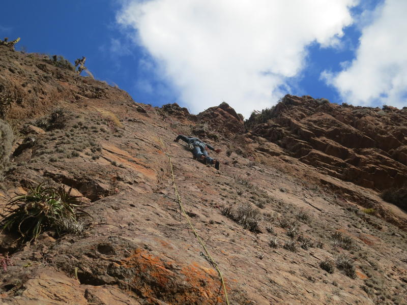 Rock Climbing Photo: Doing some balancy movement on a 7a-? established ...