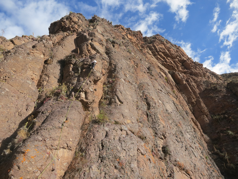 Rock Climbing Photo: Warming up on the Filo/Arete. 4c?