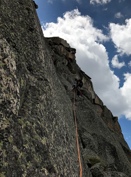 Rock Climbing Photo: First pitch of the belayed pitches on the west sid...