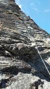 Rock Climbing Photo: Long rope run on follow.