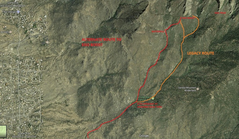 Rock Climbing Photo: alternate and legacy approach routes.