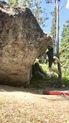 Rock Climbing Photo: Fun move!