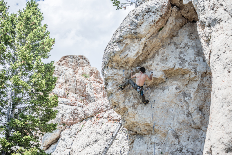 Rock Climbing Photo: Kevin leading Battle for a Wounded Knee