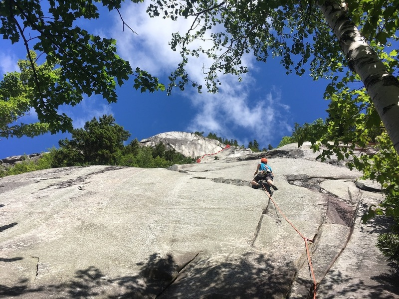 Rock Climbing Photo: This is the start of VJ's. The Great Corner is tha...