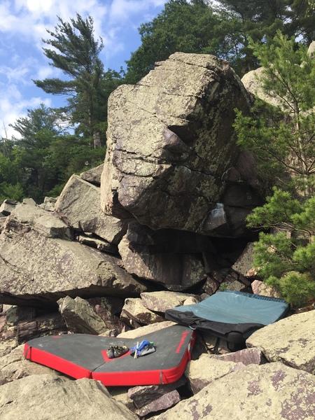 Rock Climbing Photo: The line..