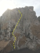 Rock Climbing Photo: Picture of the left face of mugu rock