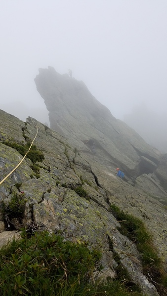 Crux pitch in the mist