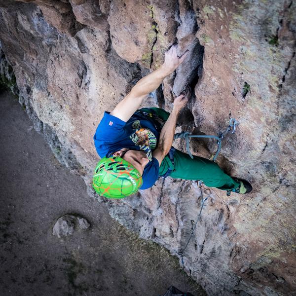 Rock Climbing Photo: Pinching the cool tufa-like rails on Forest. July ...