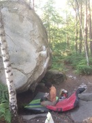 Rock Climbing Photo: contemplating skim beneath Respect d'Intention
