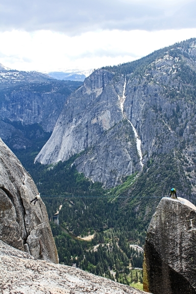 Rock Climbing Photo: LA Spire Tyrolean Traverse