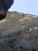 Rock Climbing Photo: Pictograph Dome left slab route