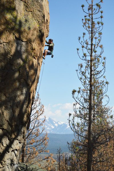 Rock Climbing Photo: Andre moving towards the crux