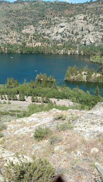 Enjoying lake view near the top out.