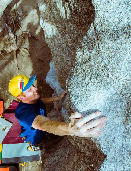 Rock Climbing Photo: Ryan sticking the throw