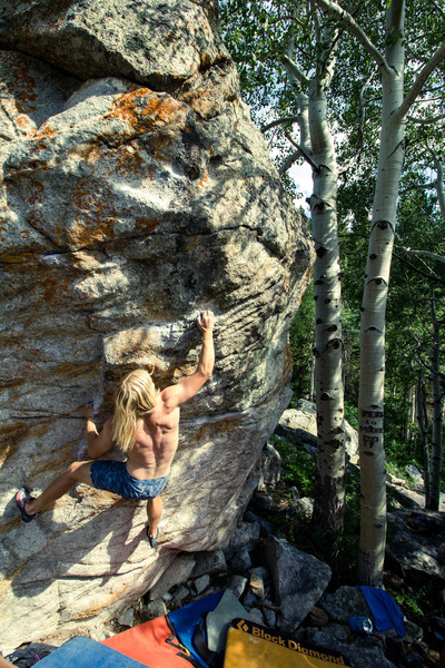 Rock Climbing Photo: Hitting the good crimp