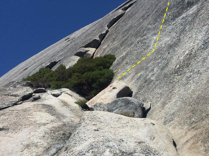 Start of Slick Rock Slab Route