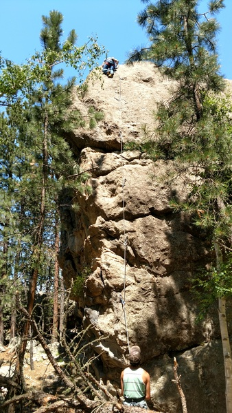 Rock Climbing Photo: Getting to the top of Buddha boys.