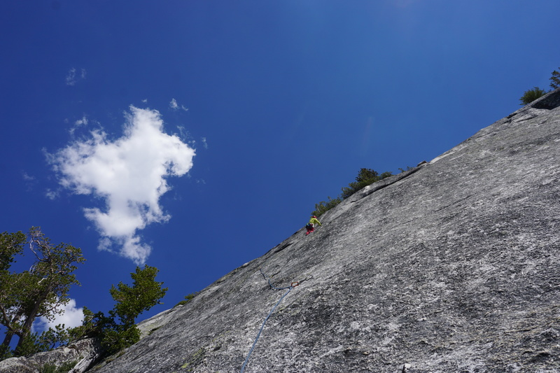 Pitch 2-The crux seemed easier than this section.