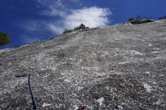 Rock Climbing Photo: Pitch 2...getting to the top. Slopers....and dirty...