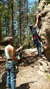 Rock Climbing Photo: Starting Buddha boys. Nice 5.7 to teach your famil...