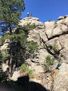 Rock Climbing Photo: Me and the brother on top of veiny. Easy 5.6 to te...