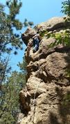 Rock Climbing Photo: Slow and steady.half way up
