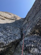 Rock Climbing Photo: Looking up the 5.9 4th pitch, aka. the money pitch
