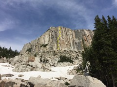Rock Climbing Photo: Full picture of route