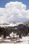 Rock Climbing Photo: Approaching Mica Basin in May 1974. The Sawtooth R...