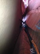 Rock Climbing Photo: Following P3, deep in the Pain Chamber.