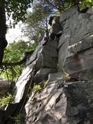 Rock Climbing Photo: Matt on the sharp end