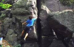 Rock Climbing Photo: First Compression Move