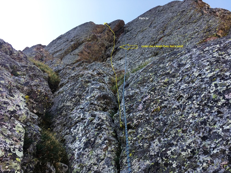 Rock Climbing Photo: This shows the start of the second pitch.  2a.