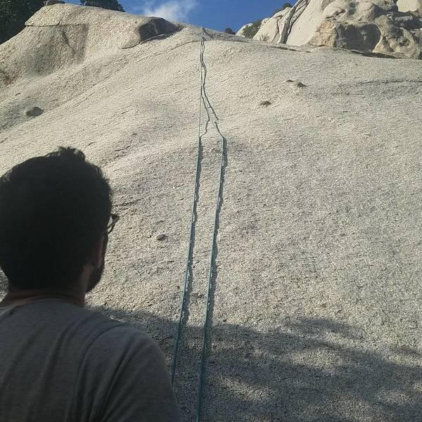 Rock Climbing Photo: The center slab route