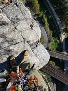 Rock Climbing Photo: Its a long way to the top if you wanna rock?