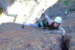 Rock Climbing Photo: Warming up at Rope De Dope.