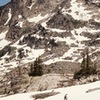 Approaching the Sawtooth-Big Agnes saddle.