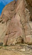 Rock Climbing Photo: New Testament Crack: Probably 10b with the full su...