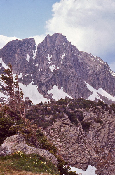 """1973 photo. Possibly """"The Castle"""" or """"The Incisor""""? Anyone climbed this?"""
