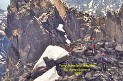 Rock Climbing Photo: Big Agnes summit, 1974.