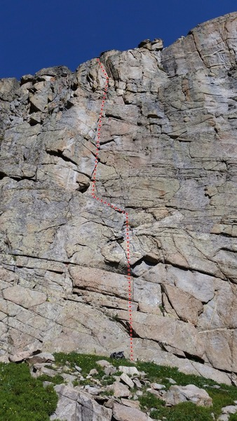 Rock Climbing Photo: East-facing wall at P8.