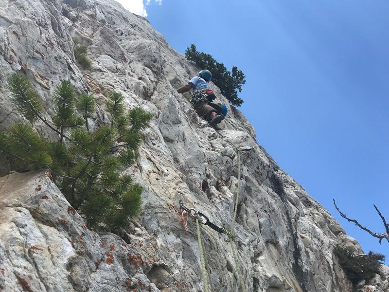 Rock Climbing Photo: Starting the final pitch